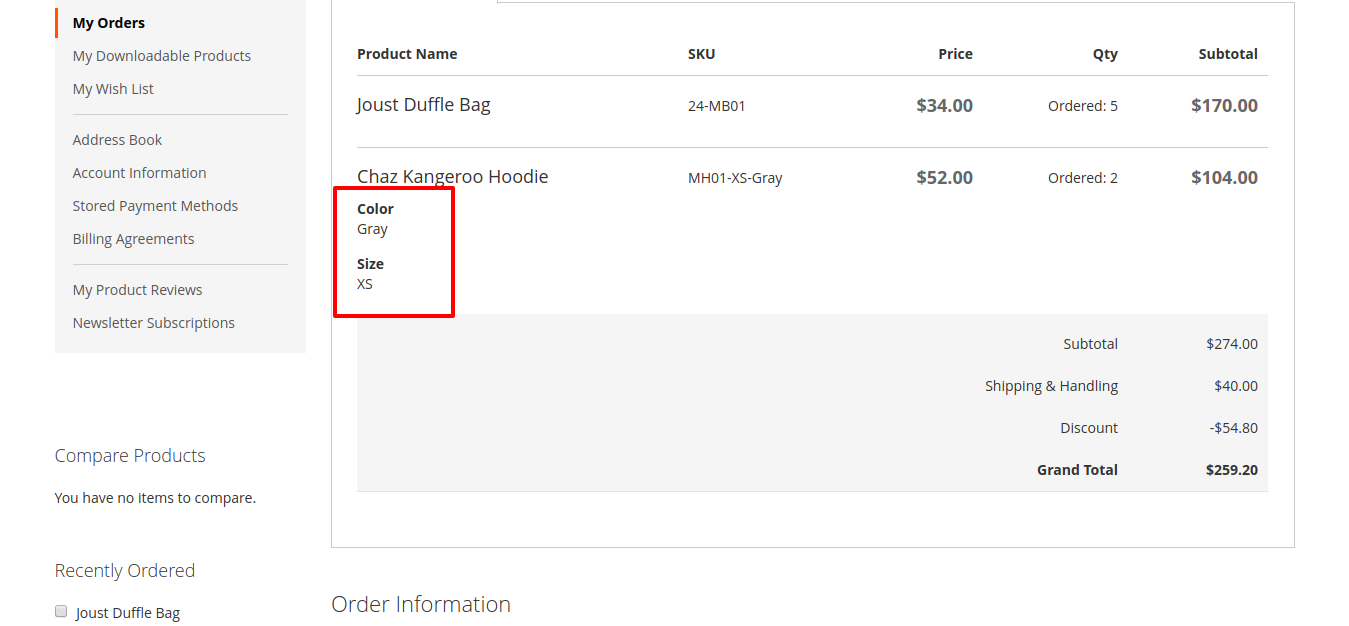 How to get Order Item Selected Options in Magento 2