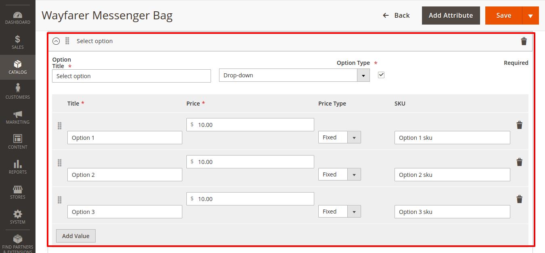 Add Custom Option in Product Programmatically in Magento 2